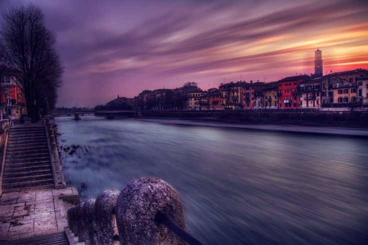 Verona at dusk by Marchetti Alessandro on 500px