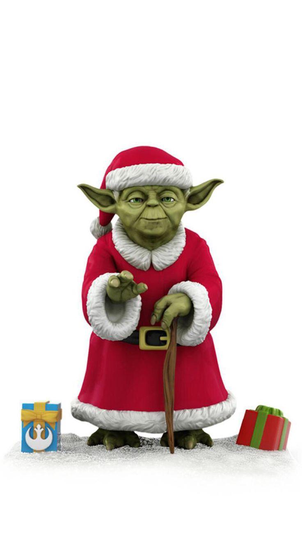 Yoda in his Christmas clothes!