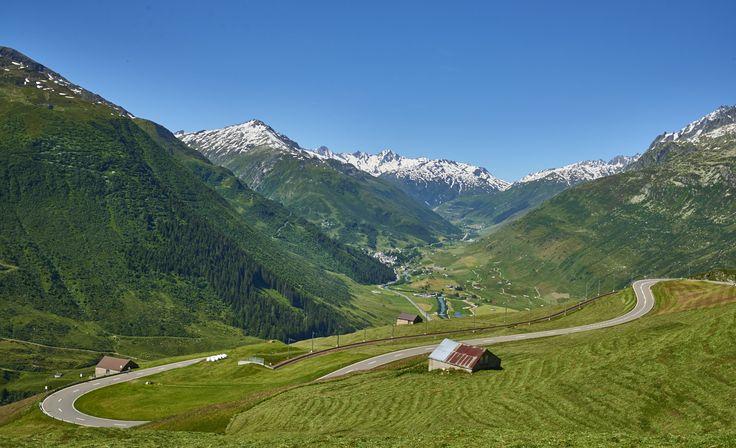 Oberalppass to Andermatt, Switzerland
