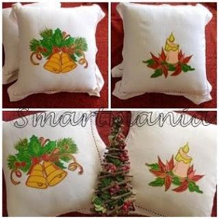 Christmas pillows handpainting