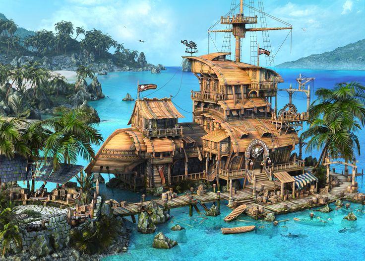 ArtStation - Pirate Tavern, Alex Serebryakov