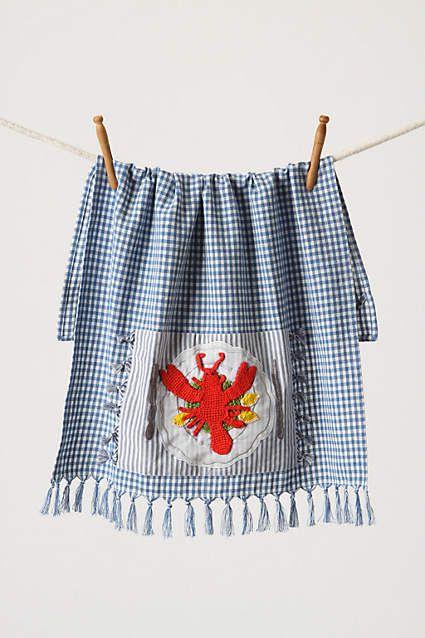 Palmer's Cove Tea Towel, Lobster - anthropologie.eu