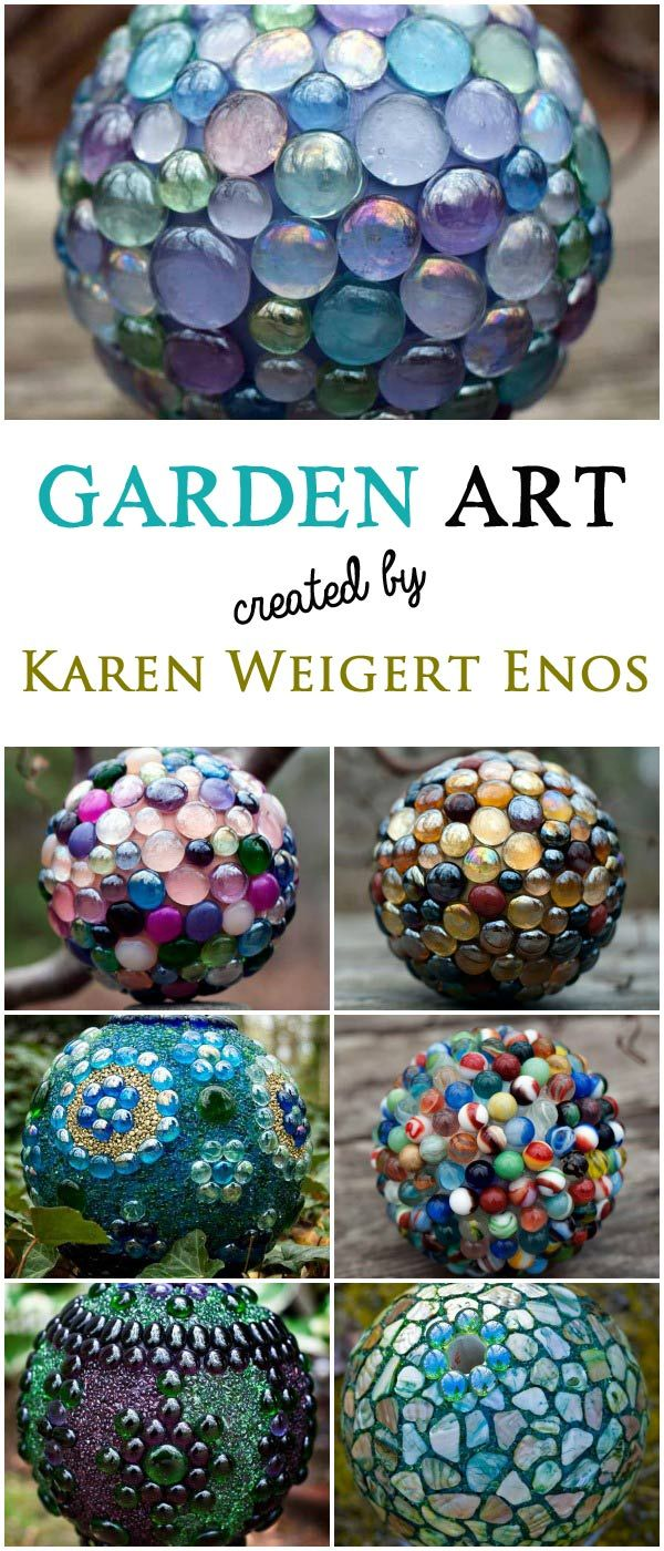 Homemade garden art ideas - A Gallery Of Garden Art Balls Created By Karen Weigert Enos Seraphinas Artworks