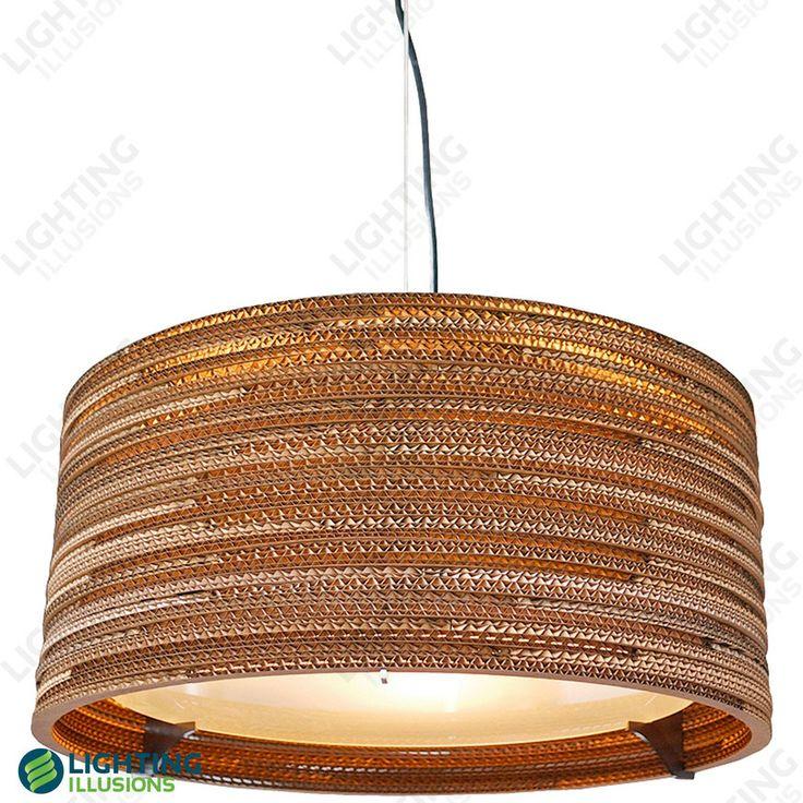 Corrugated cardboard pendant
