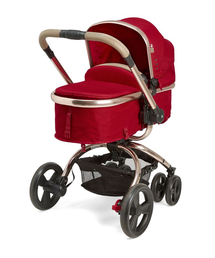 Mothercare Orb Pram and Pushchair - Dark Red Canvas