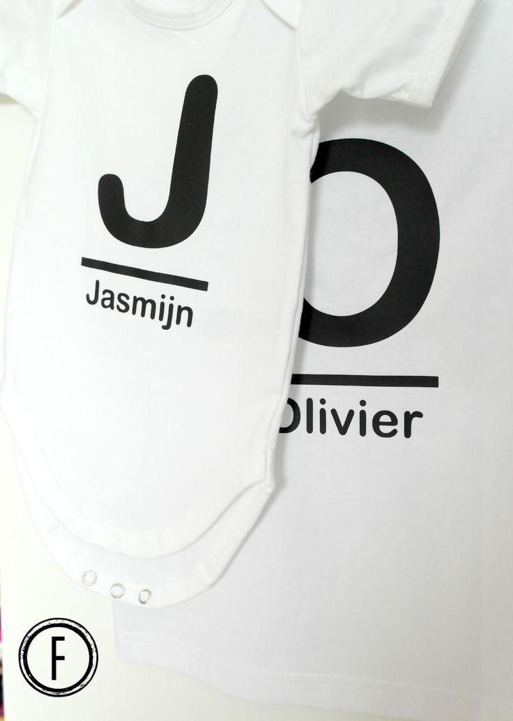T-shirt en romper voor broer en zus!