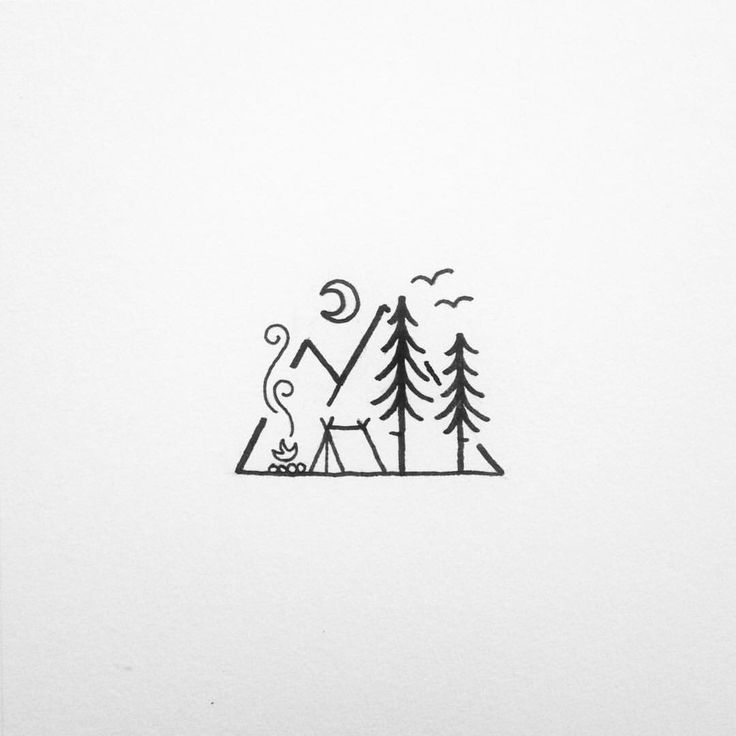 Simple Line Art Tattoos : Best camping tattoo ideas on pinterest mini drawings