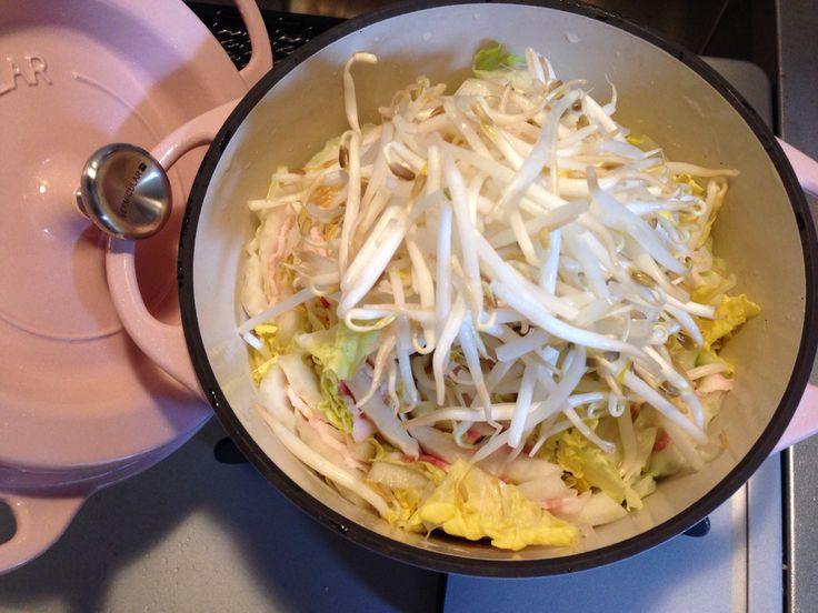 豚肉と白菜のミルフィーユ蒸し Before