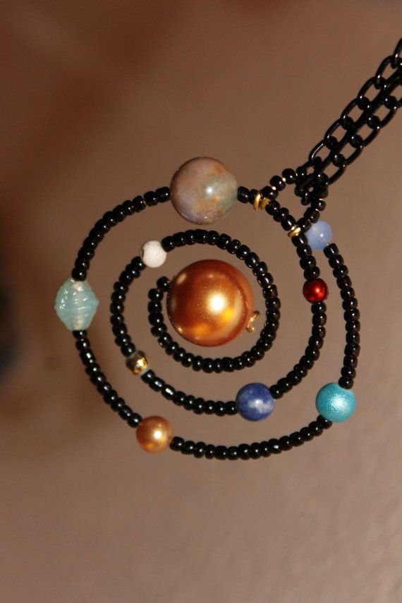 Solar system necklace. That is gloriously geeky. etsy