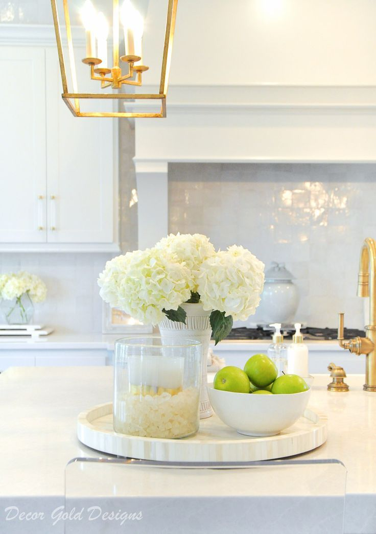 Ideas For Kitchen Counter Styling Decor Gold Designs Kitchen Countertop Decor Countertop Decor Kitchen Counter Decor