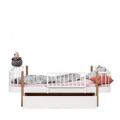 Drewniana barierka biała Wood Oliver Furniture , Scandinavian Living