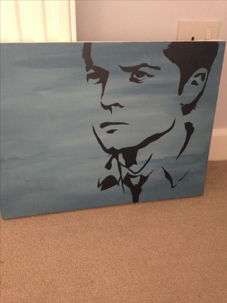 Not GCSE work but I made this for a friend's birthday. Hope she liked it. #supernatural #fanart #gift #Cas