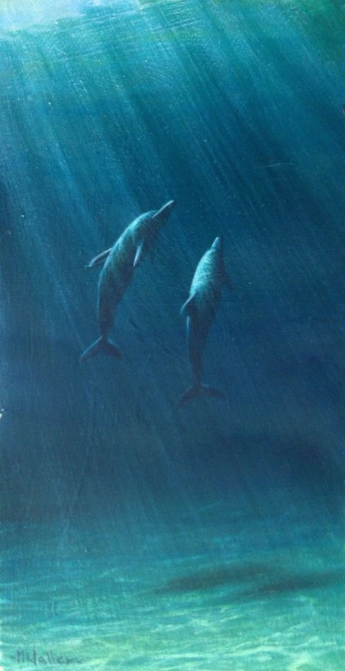 """Painting Underwater Scenes: """"Explore some simple strategies to take your marine painting to the next level.  Create depth and distance in your underwater masterpieces.  """""""