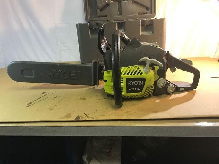 Ryobi RY3716 16 in. 37cc 2-Cycle Gas Chainsaw with Heavy Duty Case LQ006155.12 #Ryobi