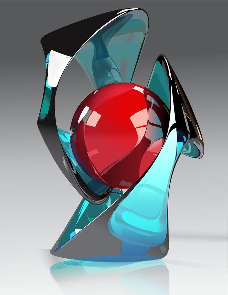 Contemporary glass art - love!