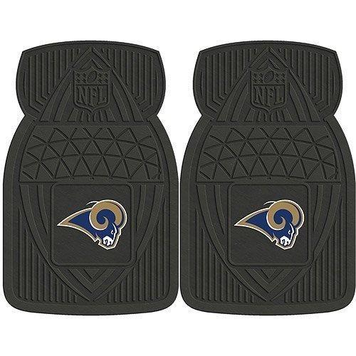 18 X 27 NFL Rams Mat Set Vinyl Floor Football Themed Sports Patterned Truck Non Slip Gift Fan Team Logo Fan Merchandise Athletic Spirit Black Gold Blue