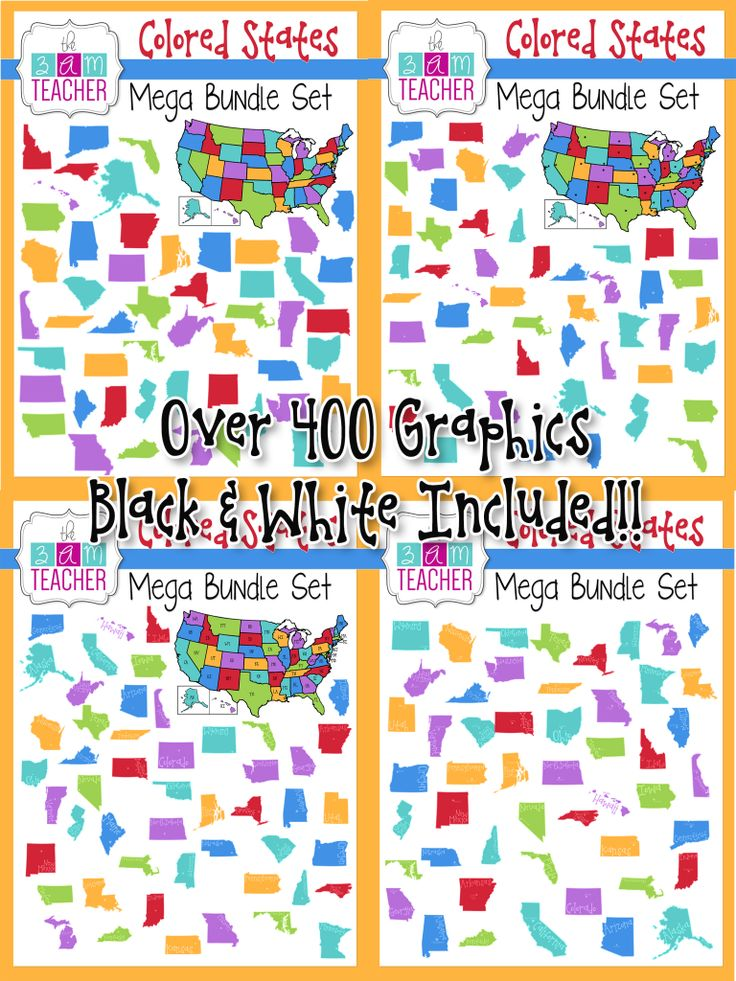 This Set Includes Over 400 High Quality Graphics In Full Color And Black And White Included Us Maps In Color Black And White Blank Capital Star