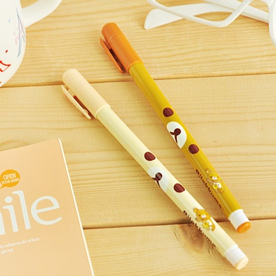 kawaii RILAKKUMA BEAR cartoon Teddy colorful cartoon pen ballpen biro scribbler