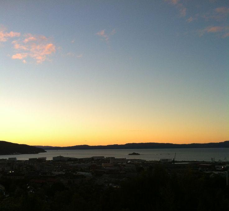 View from Kuhaugen #Trondheim