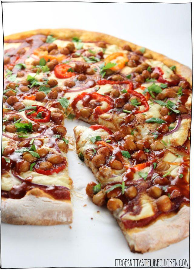 Vegan Bbq Chickpea Pizza Recipe Vegan Pizza Recipe Vegan Bbq Vegan Pizza Toppings