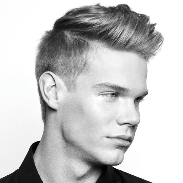 Disconnected haircuts are very popular for men- short on the side, extra long on top.