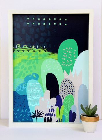 Cloud Nine Creative - Green Magical Forest Print - A3