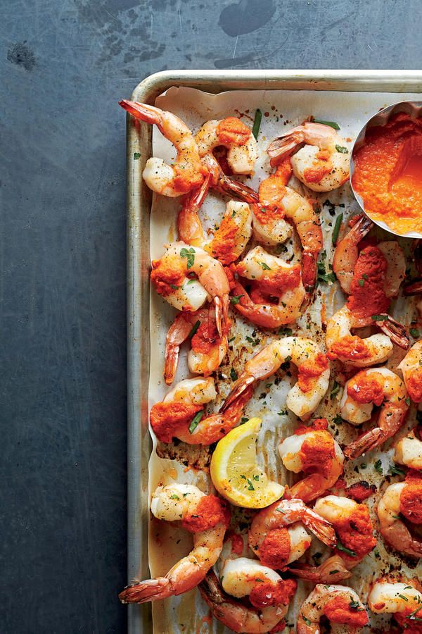 Recipe: Roasted Gulf Shrimp with Romesco Sauce  This recipe requires almost no effort for maximum reward. Just 10 minutes in the oven plus our special sauce equals tender, juicy shrimp with a kick.