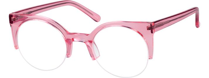 Order online, women pink half rim acetate/plastic browline eyeglass frames model #4414419. Visit Zenni Optical today to browse our collection of glasses and sunglasses.