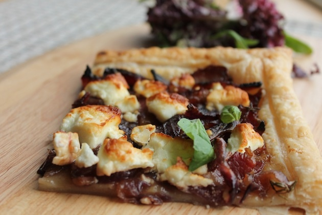 Caramelized Onion, Feta and Bacon tart | Pizza & Flat breads & Brusch...