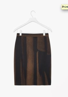 Made from a modern technical fabric with a smooth interior and slight stretch, this skirt has an all-over tonal print. Designed to sit on the waist, it has minimal detailing and a hidden partial zip fastening along the back.