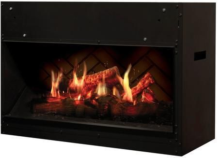 "Opti-V Solo Series VF2927L 30"" Electric Built-in Fireplace with Flame Technology Crackling Sound Effects Direct-Wired and LED Inner Glow Logs"