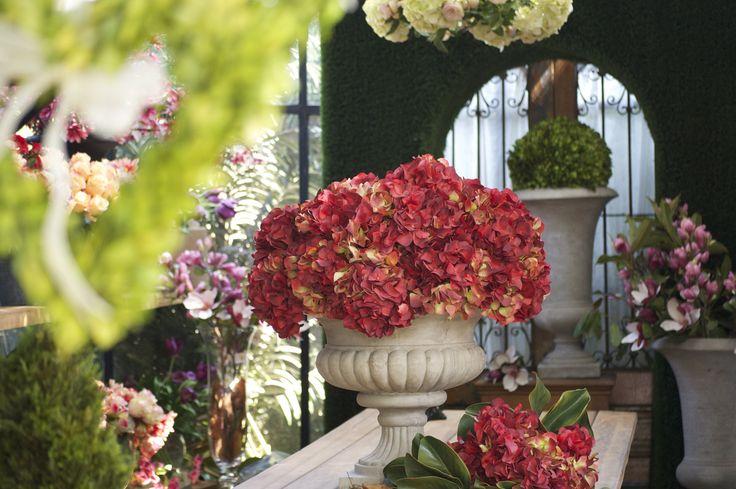 Hortensias artificiales  otoñales