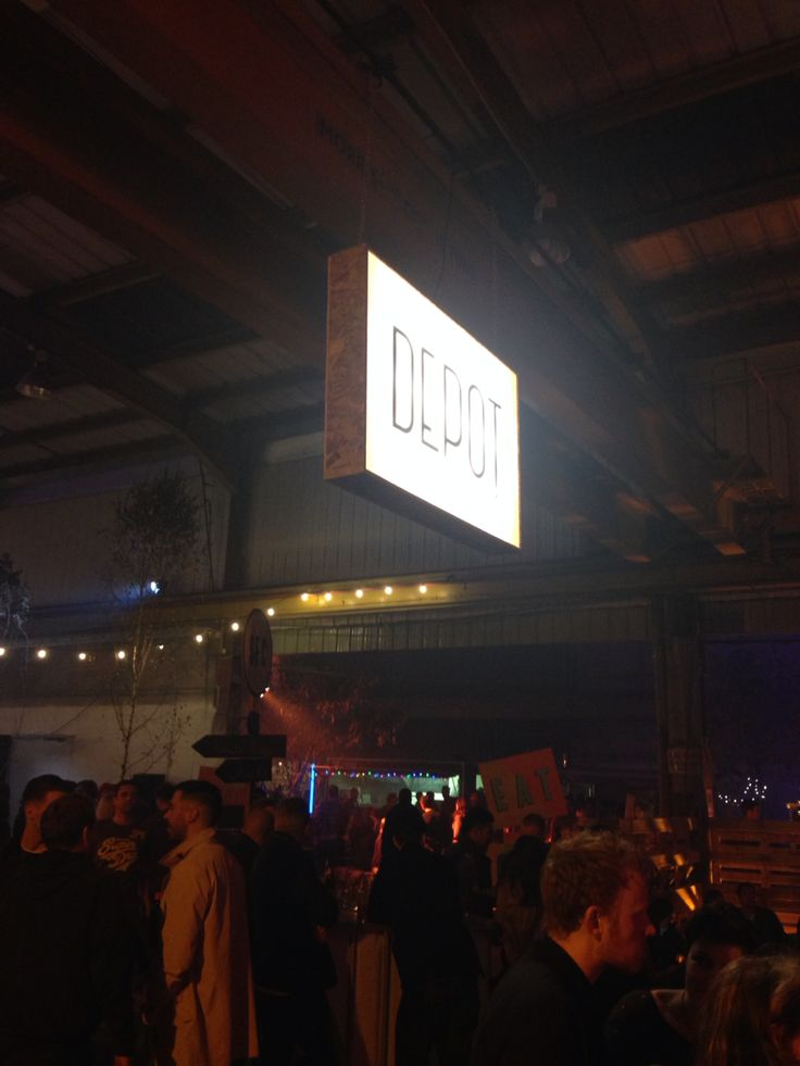 "The Depot, Cardiff. The meeting place of various ""pop-up"" restaurants each Friday and Saturday night until the end of December 2014"