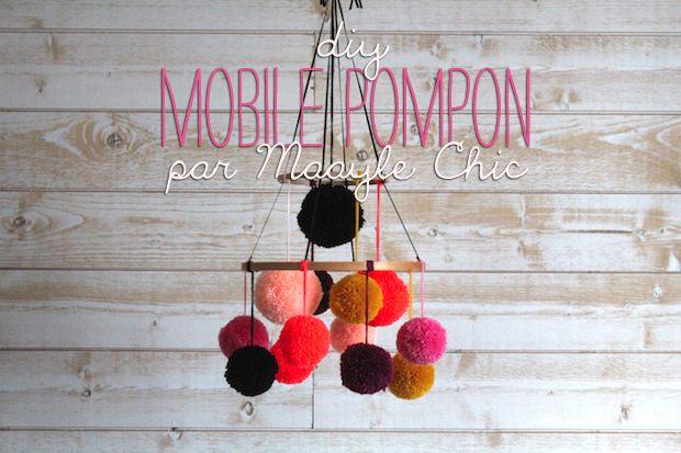 Diy : le mobile pompon par Maayle Chic