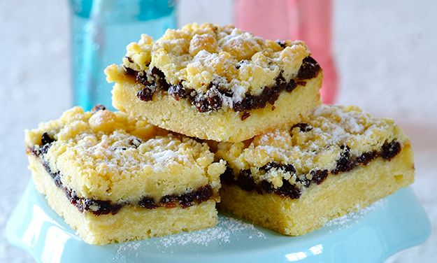 These divine Currant Squares will brighten your day and they're quick and easy to make.