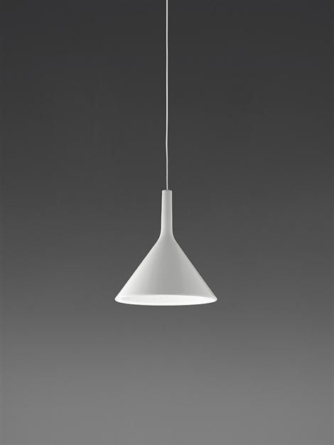 Artemide Strobilo White Cone Floor and Ceiling Lamp by David Chipperfield
