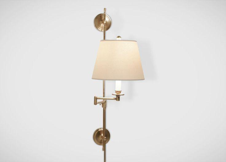Clairmont Brass Paper Shade Sconce. #EthanAllen #EthanAllenBellevue #Sonce # Lighting