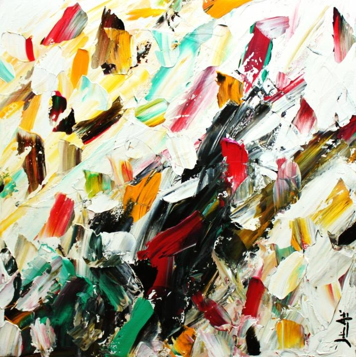 Julien Aubé is one of our most popular #abstrait artists! He really know our to mix #colors and #textures to perfection!