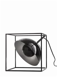Kubixx table lamp, black metal. Also available in white.