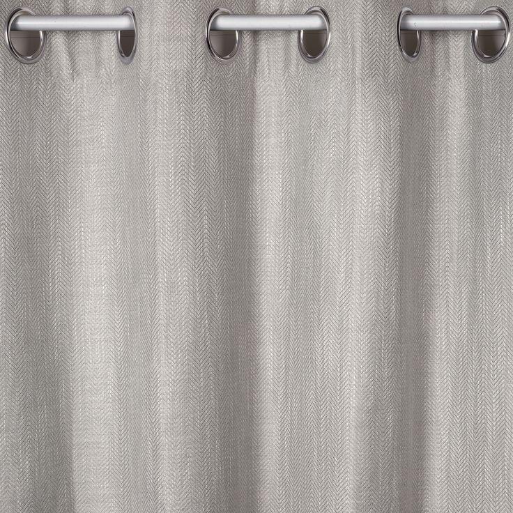 Herringbone Steel Eyelet Ready Made Curtains At Laura