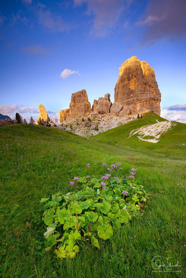 Cinque Torri, Cortina d'Ampezzo, Dolomites, province of Belluno, Veneto, Northern Italy