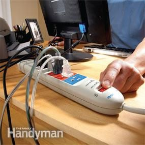 75% of Electronics Electric Usage Occurs When Electronics are Turned Off - a quick way to turn off all electronic devices when not in use is to use a power strip + How to Save Money on Your Electric Bills - via The Family Handyman
