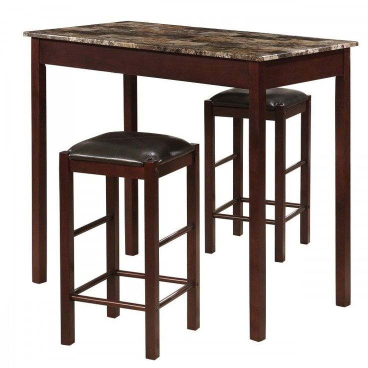 #Pub #Table Set #Bar #Stools Counter Height Chairs #Kitchen #Dining Furniture 3 Piece #Linon #Contemporary #ShoppingOnlineDeals #DanAnnStore #Buyablepins #Furniture