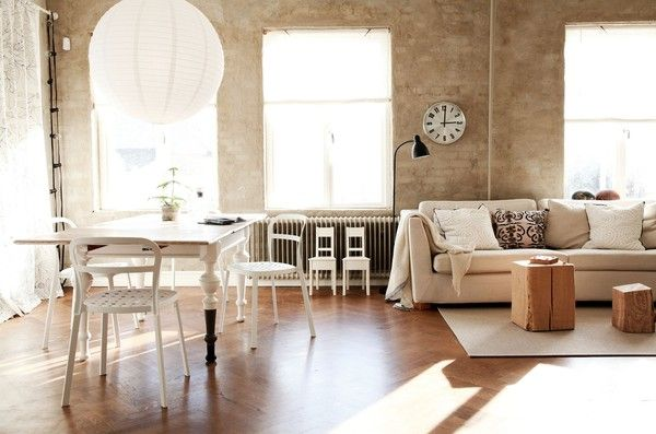 Daniella Witte: Living Rooms, Swedish Interiors, Open Spaces, Loft Living, Bricks Wall, Tables Leggings, Daniella Witt, Expo Bricks, Design