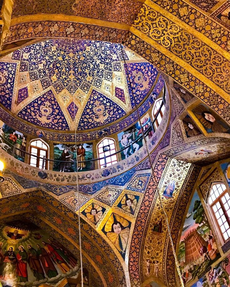 Vank Church or Holy Saviour Cathedral was built in the 1600s for Iran's Armenian-Christian population