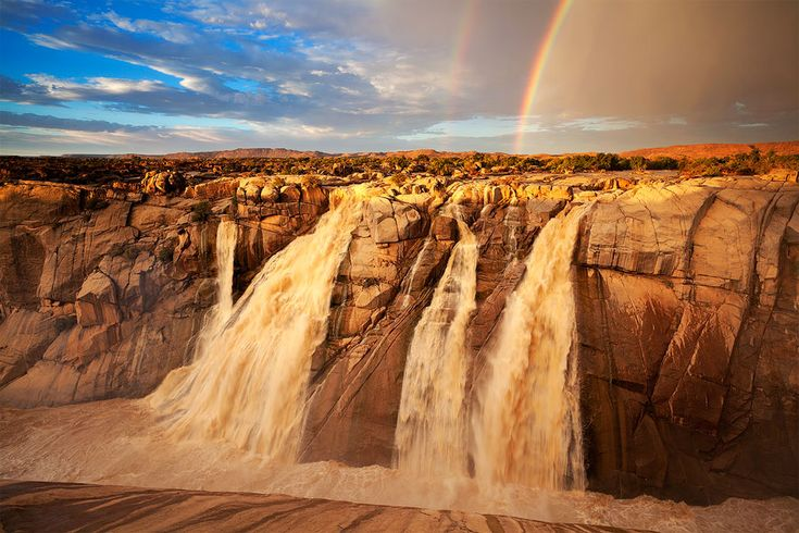 One of the side falls at Augrabies, South AfricaSouthafrica, Buckets Lists,  Dyke,  Dike, South Africa, National Parks, Augrabi Waterfall, Landscapes, Bucket Lists