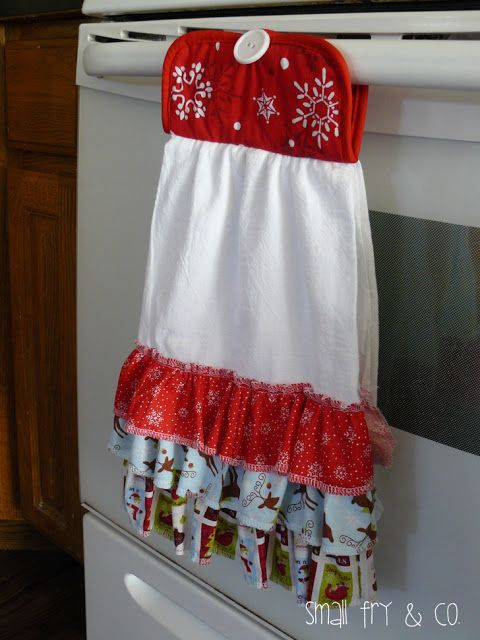 Small Fry & Co. : Ruffle Front Christmas Towel