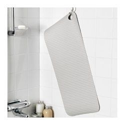 IKEA - DOPPA, Bathtub mat, Suction cups keep the mat safely in place in your bathtub or shower.You can keep the mat clean and fresh longer by hanging it up to dry after you've used it. The hole in the mat is perfect for hanging.