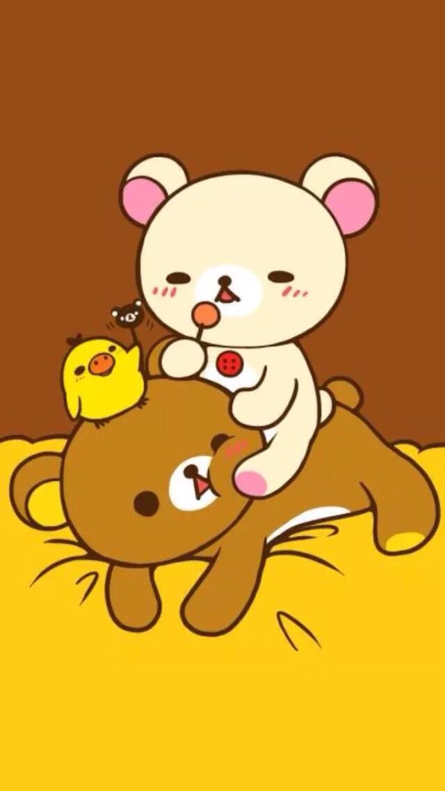 Rilakkuma Bathing Mobile IPhone Plus Wallpapers