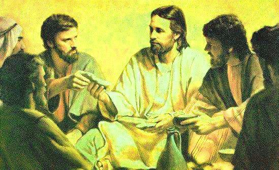 una foto de jesus predicando